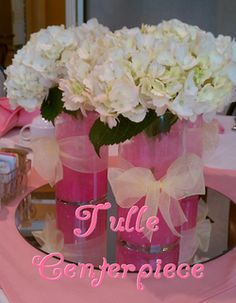 DIY instructions to create these tulle centerpieces #PreppyPlanner