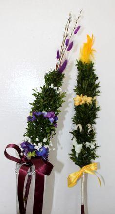 palma wielkanocna Clarity, Art Deco, Diy, Wreaths, Spring, Christmas, Handmade, Home Decor, Palmas