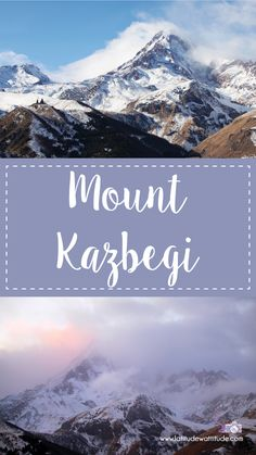 Stunning winter photos of Mount Kazbegi. A perfect weekend getaway from Tbilisi for expats and tourists. Caucasus Mountains, Outside Room, Little Camera, On A Clear Day, Winter Photos, The Last Time, Weekend Getaways, Serenity, Attitude