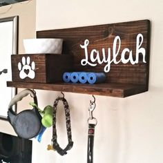 Customized dog leash and treat holder