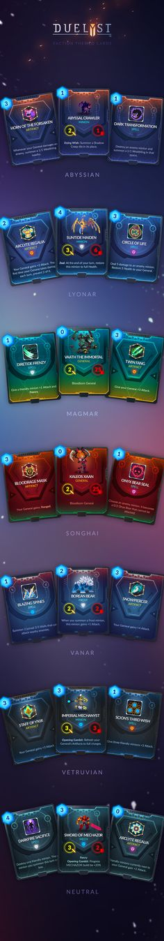 """""""Duelyst Cards"""" by zerpixelung"""