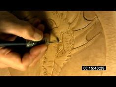 ▶ Leathercraft - how to carve, stamp and tool a dragon on a veg tanned leather - YouTube