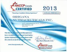 Certificat de Sécurité Alimentaire