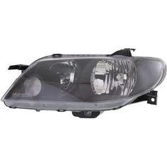 2002-2003 Mazda Protege5 Head Light LH, Lens And Housing, Metal Coat Bezel