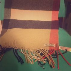 Burberry Cashmere Scarf Authentic large Burberry Scarf. Great condition.  100% Cashmere. Burberry Accessories Scarves & Wraps