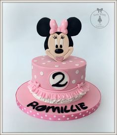 torte Recipes food and drink london Minni Mouse Cake, Bolo Da Minnie Mouse, Minnie Mouse Birthday Theme, Theme Mickey, Mickey And Minnie Cake, Mickey Cakes, Minnie Mouse Party, Custom Birthday Cakes, Birthday Cake Girls