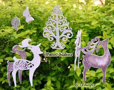 Woodland tree of happiness and deer's family by SweetChildhood