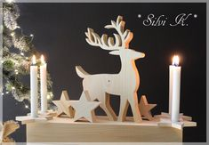 Advent Wreath, Made Of Wood, Birthday Candles, Bookends, Decoupage, 3d Printing, My Design, Merry Christmas, Christmas Decorations