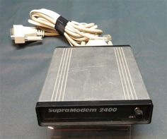 Vintage Supra Modem 2400. Fun Fact I was the Warranty Repair Manager for Supra when they were selling these.
