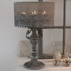 Unique lamp for tea lights - so lovely