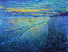 Pulau Besar, Mersing - Sunset 110x140 cm acrylic 2007