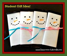 Classroom Caboodle: Candy Bar Snowmen for Student Gifts