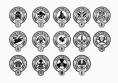 Greatfun4kids: Hunger Games Party Free Printable District Symbols