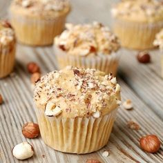Nutty Maple Muffins - Use Maple Grove Syrups to achieve ultimate flavor.  maplegrove.com #muffins #recipe #maple