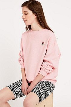 Fila Cassio Overdyed Pink Sweatshirt - Urban Outfitters