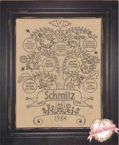family tree - embroidery