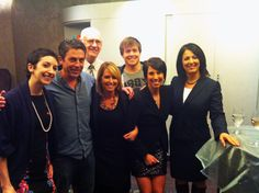A most welcome KHQ Local News invasion! Pictured: KHQ Leslie Lowe, Marisa and Brent, Stephanie Vigil, Tras Swartout, Dennis Kluver and Salon Supervisor Melanie!