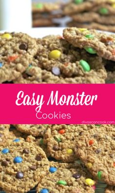 Easy Monster Cookies Recipe| Big & Chewy And Loaded with Lots of Delicious Ingredients! 😋 😋 😋 😋 😋 🍪 🍪 🍪 🍪 🍪 🍪 🍪 🍪 🍪 🍪 🍪 🍪 🍪 🍪 🍪 🍪 🍪 🍪 🍪 🍪 🍪 🍪 🍪 🍪 🍪 🍪 🍪 🍪 🍪 🍪 🍪 🍪 🍪 🍪  #monstercookies #snack #dessert #kidfriendly #M&Ms #oatmeal #chocolatechips #toffeebits #candybars Single Serve Desserts, Desserts For A Crowd, Winter Desserts, Great Desserts, Delicious Desserts, Yummy Treats, Sweet Treats, Hot Fudge Cake, Hot Chocolate Fudge