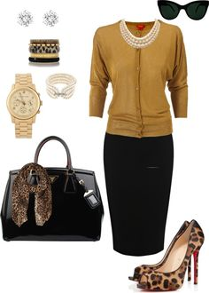 """Leopard for Work."" by ambonar on Polyvore"