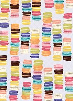Macarons Wrapping Paper - I'd have to measure to know for sure, but I think this super cute wrapping paper would look fabulous as the back of the kids' bookcase. And at $8 how can you beat it?