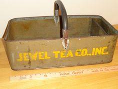 Jewel Tea Salesman Home Delivery Basket Autumn Leaf China RARE | eBay