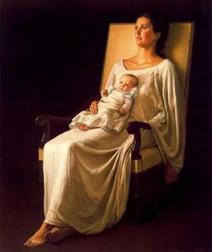 Fine Art and You: Hyper-Realistic Paintings by Chilean Painter Claudio Bravo… Woman Painting, Painting & Drawing, Claudio Bravo, Hyper Realistic Paintings, Madonna And Child, Christian Parenting, Mothers Love, Mother And Child, Art History