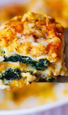 Vegetable Lasagna Recipes, Vegetarian Lasagna Recipe, Spinach Lasagna, Vegetable Dishes, Veggie Recipes, Cooking Recipes, Healthy Recipes, Pasta Lasagna, Vegetable Lasagne