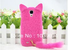 Silicone cute cartoon character plush tail cat cell phine case for Samsung Galaxy S4(I9500),free shipping $25.00 Cute Phone Cases, Iphone Cases, Cute Cartoon Characters, Samsung Galaxy S4 Cases, Store Coupons, Special Gifts, Phone Accessories, Wedding Events, Dinosaur Stuffed Animal