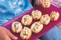 Garlic prawn rolls