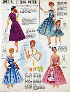 1957 dress patterns.
