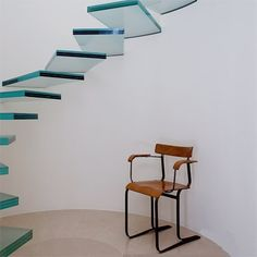 #architecture #stairs #glass #blue # translucent #floating #floatingstairs