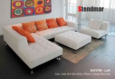Welcome to Stendmar.com 4pc modern fabric sectional sofa S4707M