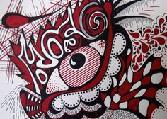 """Eye See You """"K-Os"""", Pen and Ink on Etsy, $30.00"""