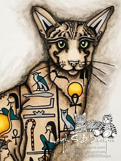 LeighSBDesigns: LeighSBDesigns Art Stamps New Release - Fantasy Feline Cleo the Egyptian Cat