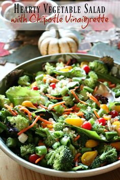 Hearty Vegetable Salad with Chipotle Vinaigrette