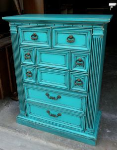Chests Of Drawers Painted Glazed Distressed Turquoise Dresserturquoise Furnitureturquoise