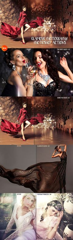 Glamour Photography #Photoshop Actions Collection is a set of free perfect actions for #glamour #photographers, designers and fashion bloggers. via @creativetacos