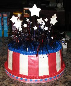 Cakes: 4th of July Birthday Cake