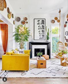 Living Room New York, Living Spaces, Farmhouse Homes, Dream Decor, Apartment Design, Sweet Home, Design Inspiration, Interior Design, House Styles