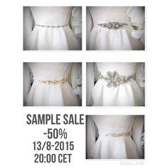 SAMPLE SALE!! Save 50% thursday 13/8 20:00 CET