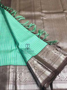 Sarees Teja Sarees, Kuppadam Pattu Sarees, Silk Saree Kanchipuram, Pattu Saree Blouse Designs, Indian Silk Sarees, Ethnic Sarees, Saree Blouse Patterns, Pure Silk Sarees, Pattu Sarees Wedding
