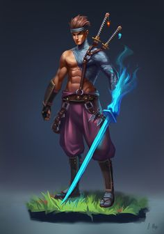 Amazing character design pieces featuring samurais and ronins. Plenty of ideas to go around if you're looking to paint a samurai of your own. Fantasy Character Design, Character Creation, Character Design Inspiration, Character Concept, Character Art, Concept Art, Fantasy Magic, Fantasy Warrior, Fantasy Art