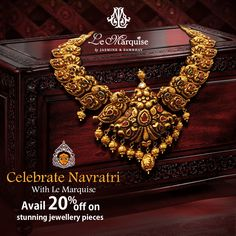 Navratri brings along nine days of grand festivities. Look like a goddess each day adorning jewellery pieces by Le Marquise. Hurry and shop! Jewelry Design Earrings, Gold Jewellery Design, Gold Jewelry, Antique Jewelry, Bridal Jewelry Vintage, Wedding Jewelry, Bridal Jewellery, Short Necklace, Gold Necklace