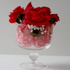 Sweet and Simple Valentine's Centerpiece @Mary Powers Beth @ Cupcakes & Crinoline @Apryl Stafford Square