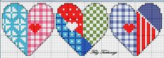 For Valentine's Day 3 Designed by Filiz Türkocağı Small Cross Stitch, Cross Stitch Heart, Cross Stitch Designs, Cross Stitch Patterns, Modern Embroidery, Embroidery Patterns, Cross Stitching, Cross Stitch Embroidery, Patchwork Heart