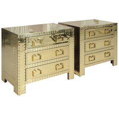 1stdibs - Pair of Brass Studded Sarreid Chests explore items from 1,700  global dealers at 1stdibs.com