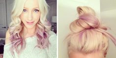 Temporary Purple Ombre Tutorial + Hair Chalk Giveaway