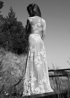 Long Sleeve Wedding Dress Boho Wedding Dress by WearYourLoveXO