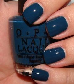 Fall / Winter nail color - OPI Ski Teal We Drop