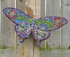 Image detail for -Another butterfly mosaic, made as a gift. Butterfly Mosaic, Mosaic Birds, Mosaic Wall Art, Mosaic Glass, Stained Glass, Glass Art, Mosaic Crafts, Mosaic Projects, Mosaic Ideas
